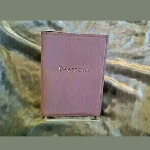 Tiffany & Co pink leather passport cover